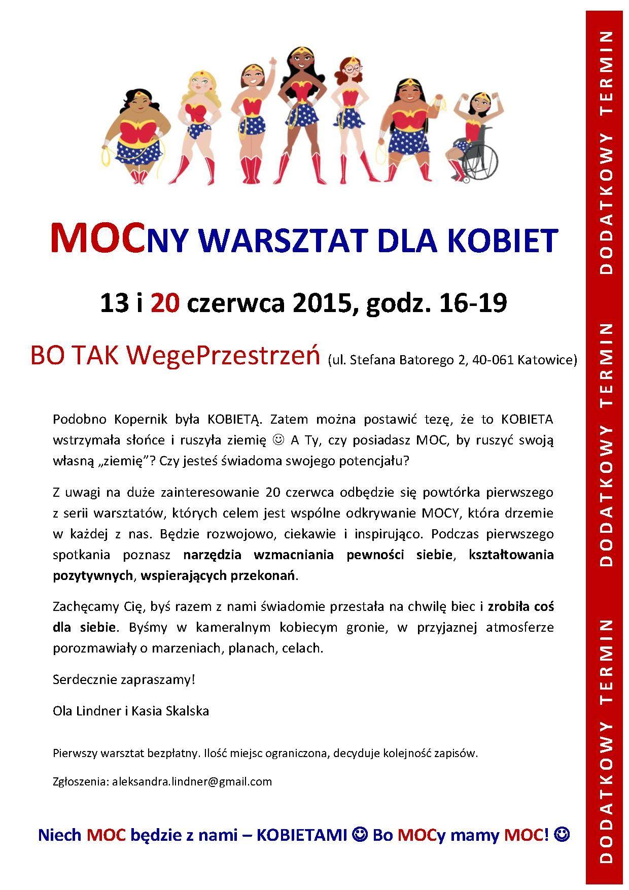 20150611_MOCny warsztat dla kobiet_dodatkowy termin